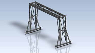 Double Girder top Running Gantry Crane