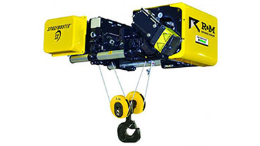 R&M Spacemaster SX Wire Rope Hoist Low Headroom Trolley