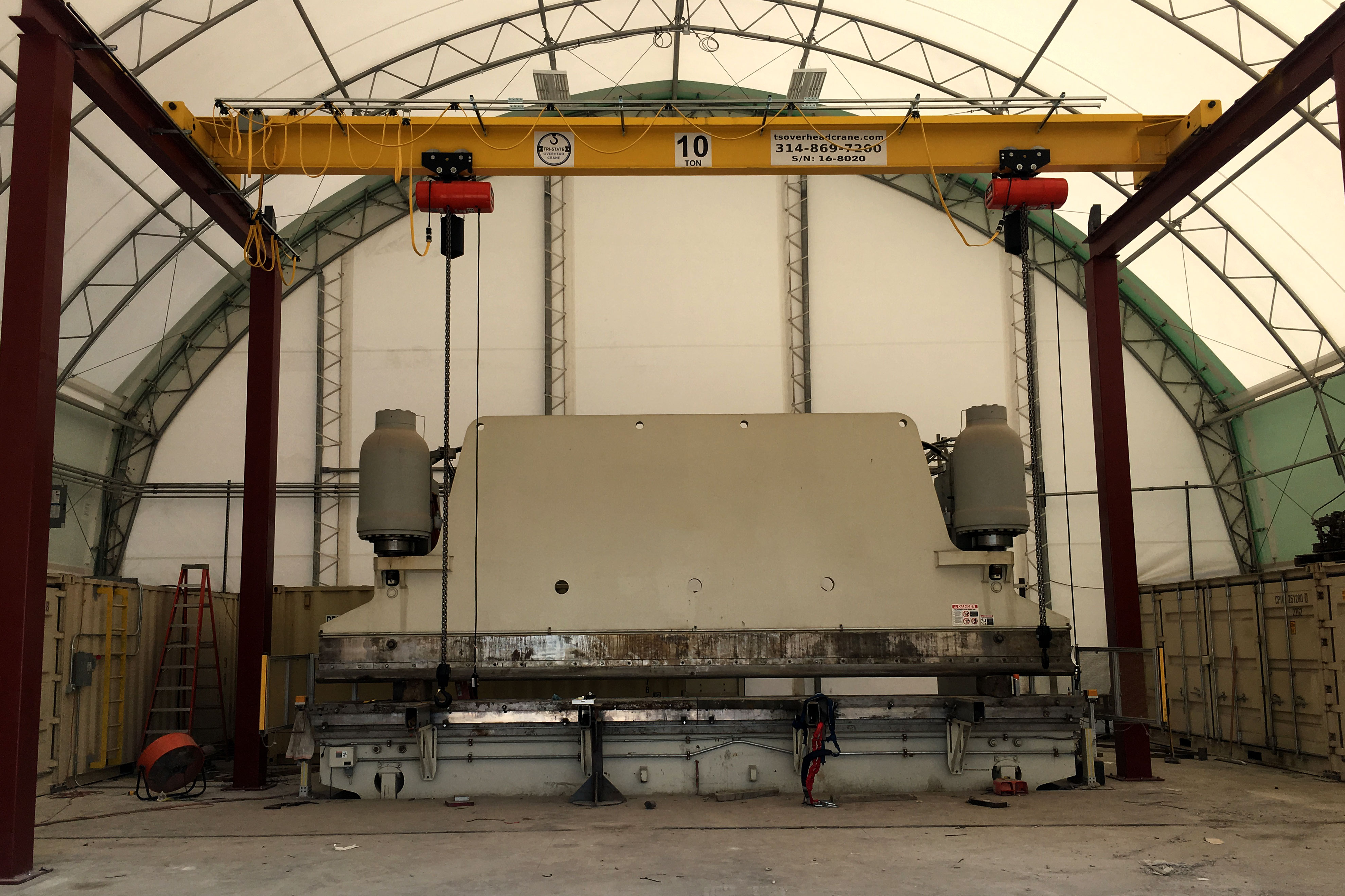 Single Girder Bridge Crane with CM Lodestar
