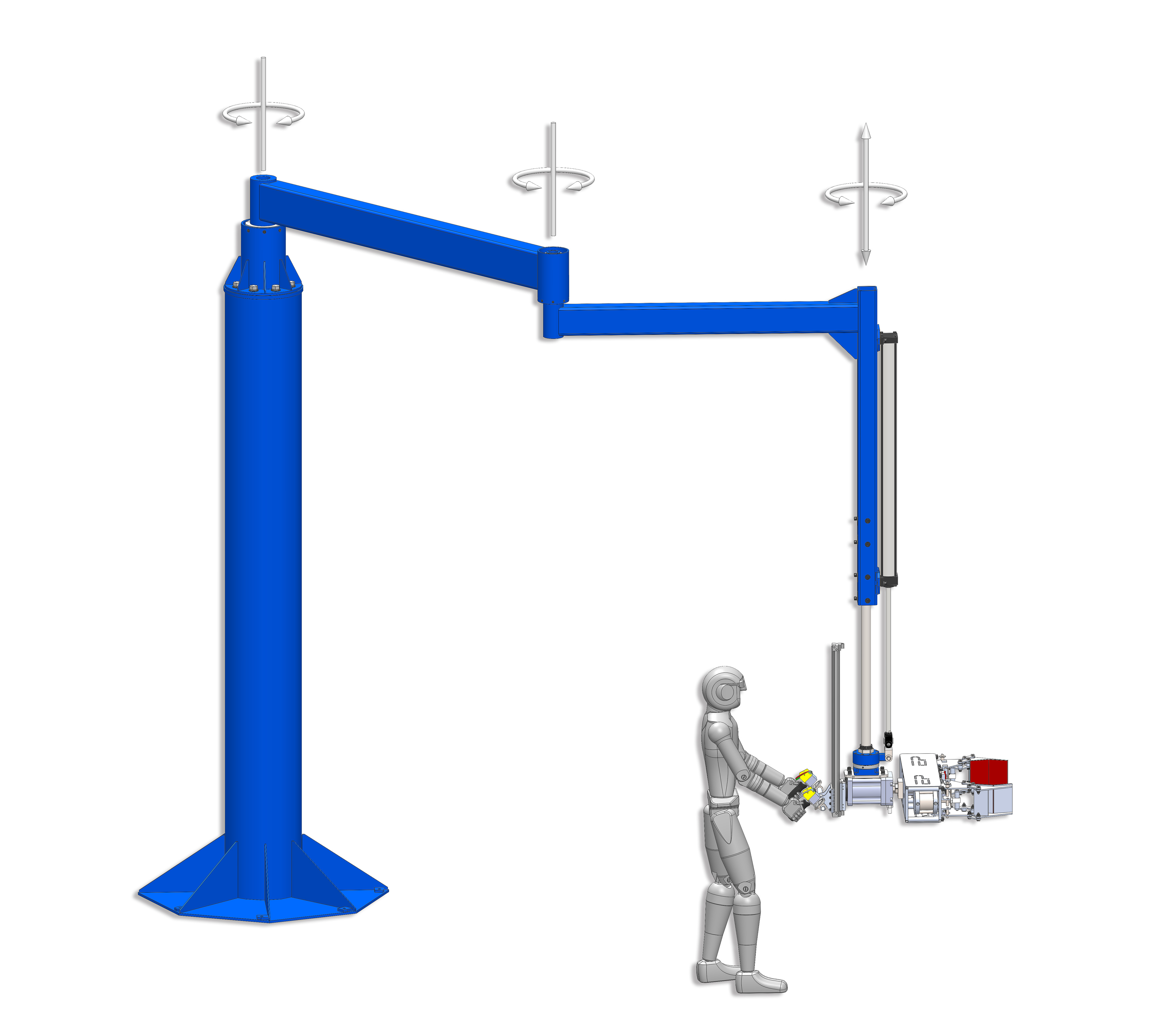 Articulating Arm Hoist : Manipulator arms hydraulic pneumatic vertical lifters