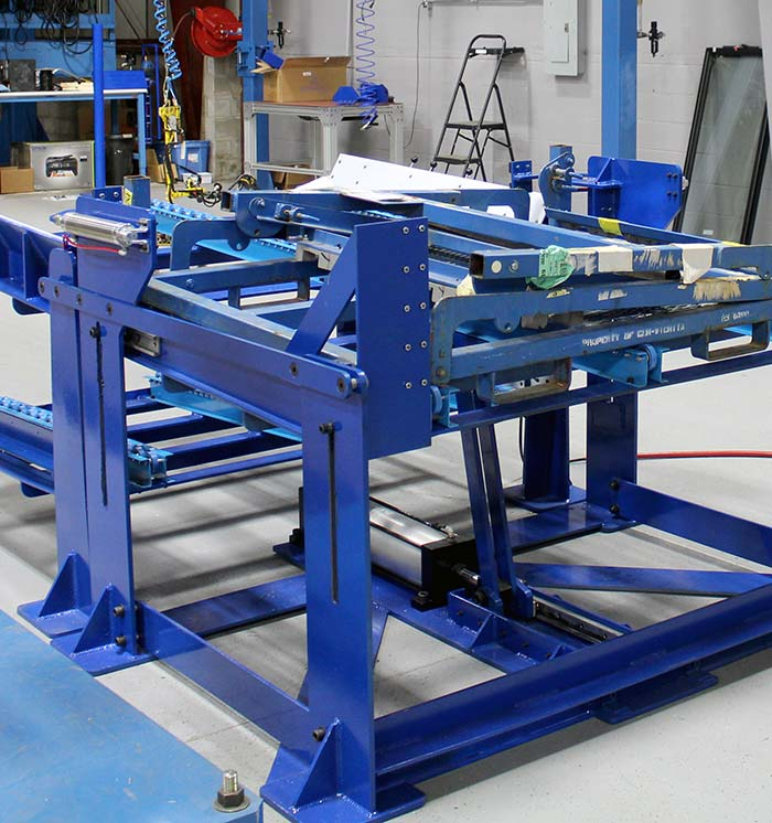 Mechanical lift assist for damper assembly
