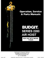 Budgit 2200 Series Air Chain Hoist Manual