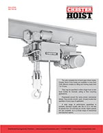 Chester Worm Drive Hoists Brochure