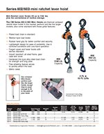 CM 602/603 Series Mini Come Along Lever Hoist Brochure