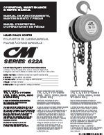 CM 622 Hand Chain Hoist Manual