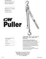 CM 640 Come Along Lever Hoist Manual
