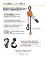 CM Series 653 Ratchet Lever Hoist Brochure