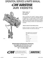 CM AirStar Chain Hoist Manual