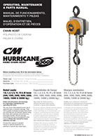 CM Hurricane 360 Hand Chain Hoist Manual
