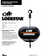 CM LodeStar ET and D8+ Chain Hoist Manuals