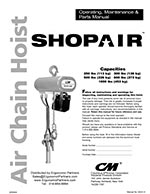 CM ShopAir Chain Hoist Manual
