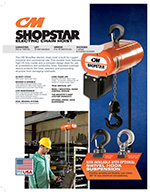 CM ShopStar Electric Chain Hoist Brochure