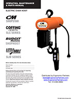 CM ShopStar Electric Chain Hoist Manual