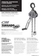 CM Tornado 360 Hand Crank or Lever Hoist Manual