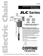 Coffing JLC Electric Chain Hoist Manual