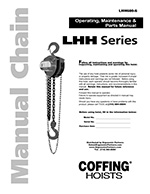 12 Tons Capacity 10 Lift Coffing 08942W LHH Series Hand Chain Hoist