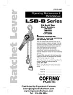 Coffing LSB-B Ratchet Lever Hoist Manual