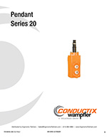 Conductix 20 Series Push Button Station Manual