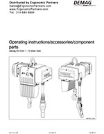 [SCHEMATICS_44OR]  Demag DC-Com Electric Chain Hoist Manual | Demag Dc Chain Hoist Diagram |  | Ergonomic Partners