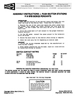 Duct-O-Wire RPB Series Pushbutton Station Install Instructions