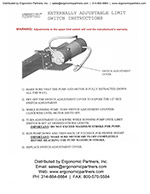Dyna-Lift Adjustable Limit Switch Instructions