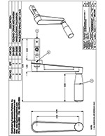 Dyna-Lift Retractable Handle Assembly Drawing DH-17100