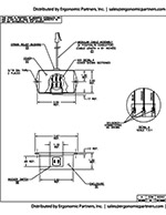 Dyna-Lift Rocker Switch Drawing DH-08400