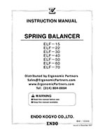 Endo Balancer ELF-15 to ELF-70 Manual