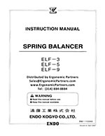 Endo Balancer ELF-3 to ELF-9 Manual