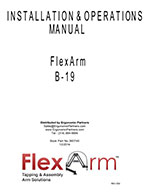FlexArm Heavy Duty Assembler Arm B-19 Manual