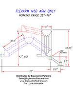 FlexArm Heavy Duty Assembler Arm M-60 Drawing