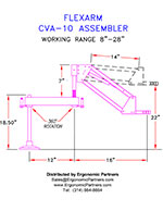 FlexArm Light Duty Assembler Arm CVA-10 Drawing