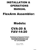 FlexArm Light Duty Assembler Arm CVA-20, FAV-14-20 Manual