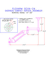 FlexArm Light Duty Assembler Arm OCVA-24 Drawing