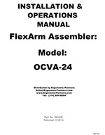 FlexArm Light Duty Assembler Arm OCVA-24 Manual