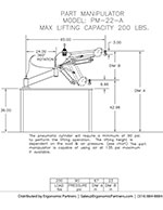 FlexArm Part Manipulator PM-22-A Drawing