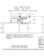 FlexArm Part Manipulator PM-22-S Drawing