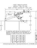 FlexArm Part Manipulator PM-33-A2 Drawing
