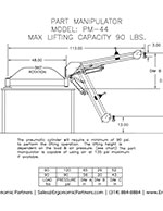 FlexArm Part Manipulator PM-44 Drawing