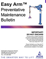 Gorbel Easy Arm Preventative Maintenance Guide