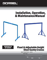 Gorbel Fixed and Adjustable Gantry Crane Manual