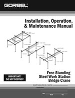 Gorbel Free Standing Workstation Bridge Crane Manual