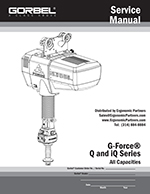 Gorbel's G-Force Q/iQ Models Parts and Service Manual