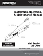 Gorbel Wall Bracket I-Beam Jib Crane Manual