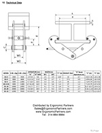 Grippa Heavy Duty Beam Clamp Dimensions