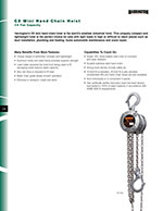 Harrington CX Hand Chain Hoist Brochure