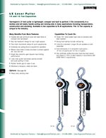 Harrington LX Ratchet Lever Hoist Brochure