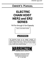 Harrington NER/ER Hoist Manual