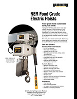 Harrington NER Food Grade Electric Hoist Brochure