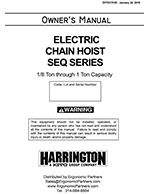 Harrington SEQ Electric Hoist Manual